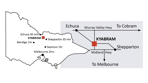 Directions to Kyabram Town Hall